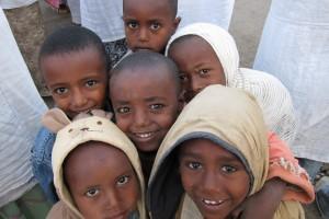 Barn i Axum, Etiopien.