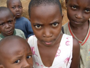 Barn i Rwanda.