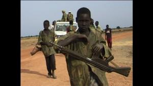 Barnsoldat i södra Sudan