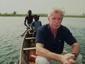 På Voltasjön i Ghana
